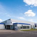 Automobilių aptarnavimo centro metalo konstrukcijos Nemėžio pl. Vilniuje