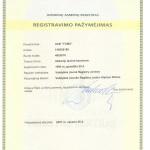 registravimo pazymejimas